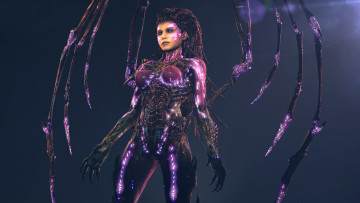 Картинка видео+игры starcraft+ii +heart+of+the+swarm sarah kerrigan starcraft 2 zerg queen of blades fan art