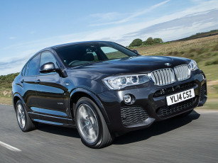 Картинка автомобили bmw xdrive x4 uk-spec package sports 30d m темный 2014г f26