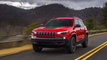 обоя jeep cherokee trailhawk 2019, автомобили, jeep, red, 2019, trailhawk, cherokee
