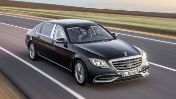 Картинка mercedes-maybach+s-class+s650+black+2018 автомобили mercedes-benz black 2018 s-class s650 mercedes-maybach
