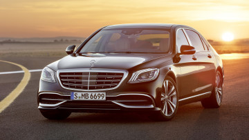 обоя mercedes-maybach s-class s650 black 2018, автомобили, mercedes-benz, mercedes-maybach, 2018, black, s650, s-class
