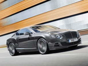 Картинка автомобили bentley 2014 speed gt continental темный