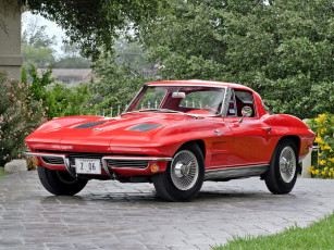 обоя corvette sting ray z06 1963, автомобили, corvette, z06, sting, ray, red, 1963
