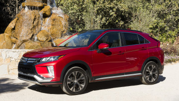 обоя mitsubishi eclipse cross 2018, автомобили, mitsubishi, красный, 2018, cross, eclipse