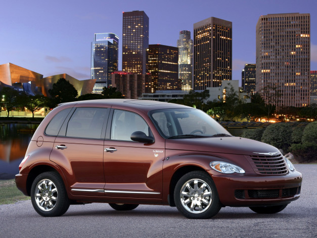 Обои картинки фото chrysler street pt cruiser sunset boulevard 2008, автомобили, chrysler, street, cruiser, 2008, sunset, boulevard, pt