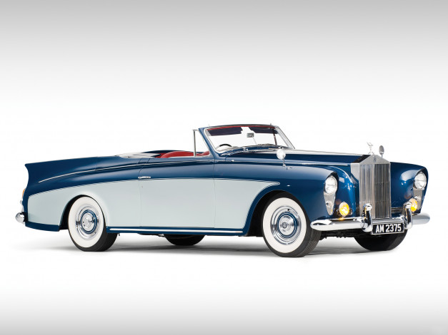 Обои картинки фото rolls-royce silver cloud drophead coupe by hooper 1958, автомобили, rolls-royce, 1958, hooper, drophead, coupe, cloud, silver
