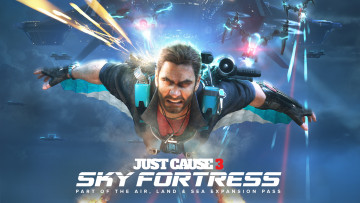 обоя видео игры, just cause 3,  sky fortress, just, cause, 3, sky, fortress