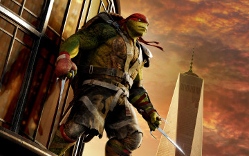 обоя кино фильмы, teenage mutant ninja turtles,  out of the shadows, out, of, the, shadows, teenage, mutant, ninja, turtles, raphael
