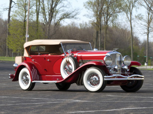 Картинка автомобили duesenberg cowl dual sj 523-2552 красный 1934г city lagrande-union swb phaeton