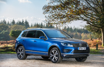 Картинка автомобили volkswagen v6 touareg 2014г uk-spec tdi r-line синий