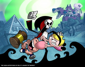 обоя the, grim, adventures, of, billy, mandy, видео, игры