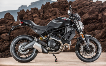 обоя ducati monster 797 , 2018, мотоциклы, ducati, байк, дукати, new, side, view, monster, 797, черный