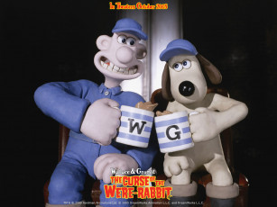 Картинка the wallace and gromit movie curse of wererabbit мультфильмы in were rabbit