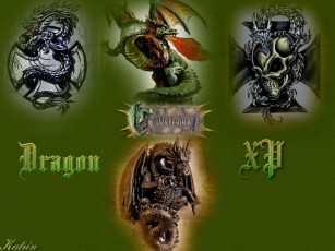 обоя dragon, xp, компьютеры, windows