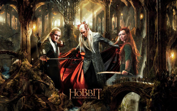 обоя кино фильмы, the hobbit,  the desolation of smaug, пустошь, смауга, тауриэль, хоббит, леголас, трандуил