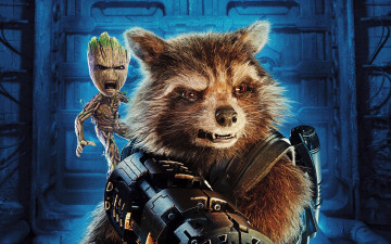 Картинка кино+фильмы guardians+of+the+galaxy+vol +2 groot rocket