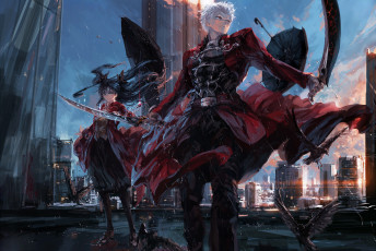 Картинка аниме fate stay+night stu dts archer tohsaka rin stay night upscale девушка арт