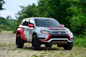 Картинка автомобили mitsubishi 2015г car race baja outlander phev