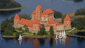 обоя города, тракайский замок , литва, trakai, castle, lithuania