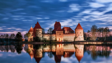 обоя trakai castle lithuania, города, тракайский замок , литва, trakai, castle, lithuania