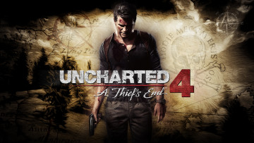 обоя видео игры, uncharted 4,  a thief`s end, uncharted, 4, a, thiefs, end, action, шутер