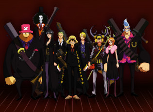 Картинка аниме one+piece franky d luffy nami brook monkey sanji usopp zoro roronoa chopper robin nico