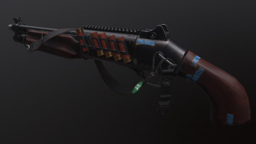 обоя оружие, 3d, gun, обрез, render, weapon, дробовик, рендеринг, бенели, sawn-off, shotgun, beneli