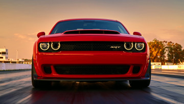 обоя dodge challenger srt demon 2018, автомобили, dodge, demon, red, srt, challenger, 2018