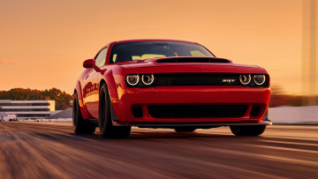 обоя dodge challenger srt demon 2018, автомобили, dodge, red, demon, challenger, srt, 2018