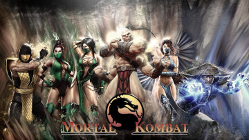 Картинка mortal kombat видео игры 2011 jade raiden goro scorpion