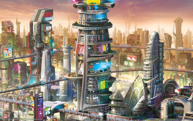Обои картинки фото simcity,  cities of tomorrow, видео игры, город